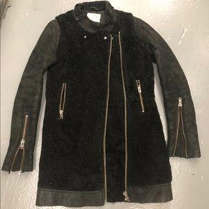Heavy real shearling jacket